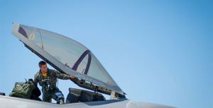 Maj. Chris Campbell, 461st Flight Test Squadron director of operations, is an F-16 test pilot
